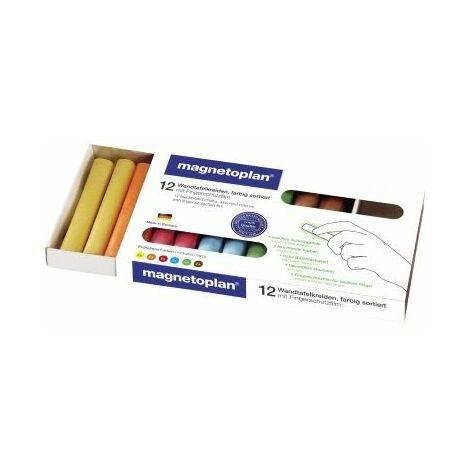 magnetoplan Tafelkreide 12306 farbig sortiert 12 St./Pack.
