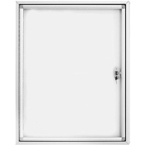 magnetoplan® Vitrine d'affichage CC - avec vitre en verre sécurit - capacité 4 x format A4 - Coloris cadre: argent alu