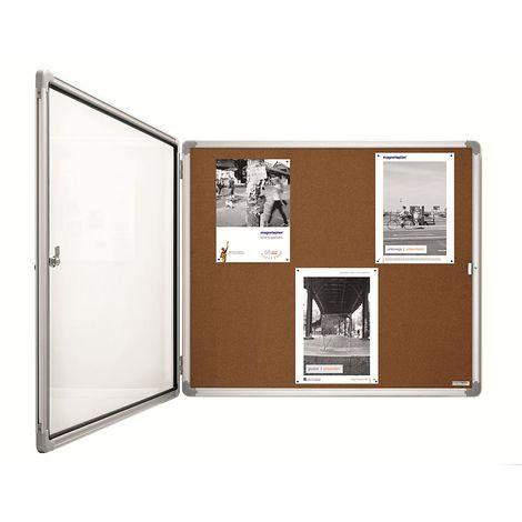magnetoplan® Vitrine d'affichage SP - li��ge - capacité 4 x format A4