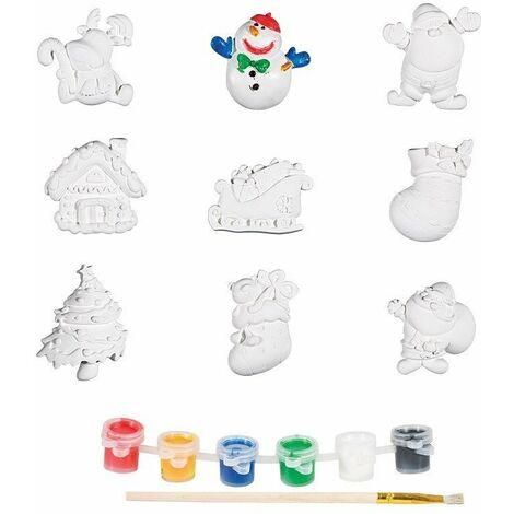 Magnets de Noël à peindre