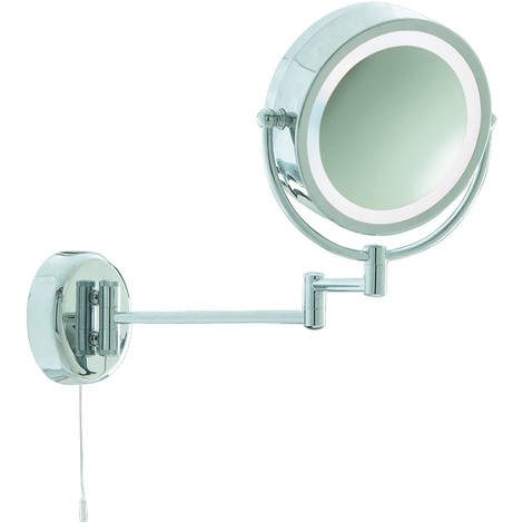 Magnifying Extendable Bathroom Mirror Light X3 Magnification by Washington Lighting
