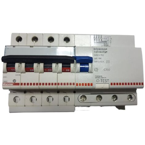 BTICINO FA84C50 MAGNETOTERMICO 4POLI 50A CURVA C