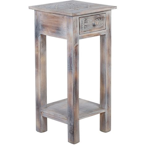 Mahogany End Table White ATHABASCA