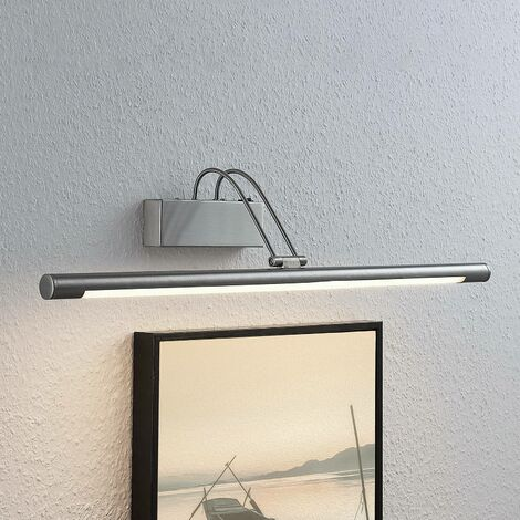 Mailine LED picture light with switch, nickel