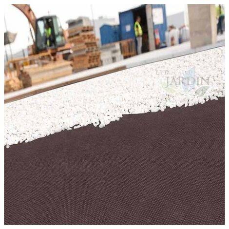 Maille géotextile marron 1,2 x 10 m, polypropylène 100 gr / m2