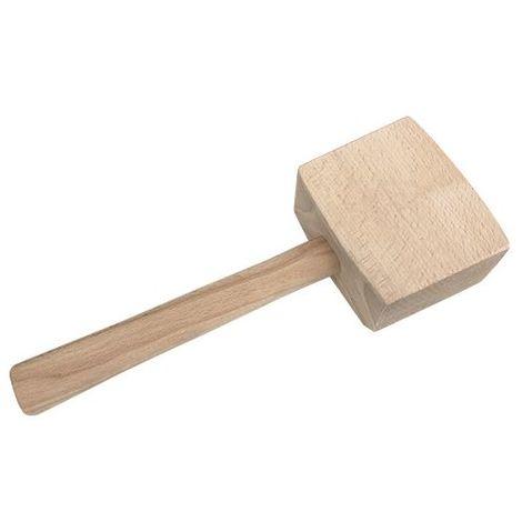 Maillet de menuisier 2 frappes 55 et 115 x Ht. 90 x Lt. 310 mm en bois d' hêtre brut 510 grammes - Diamwood - -