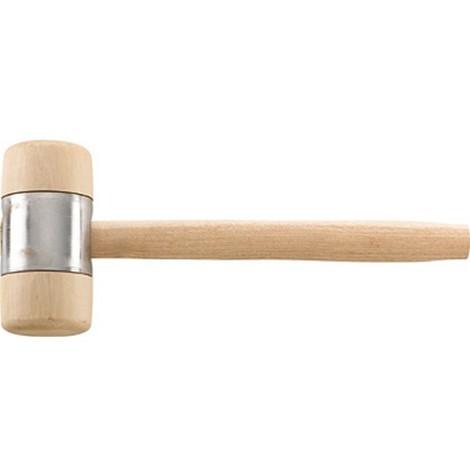 Maillet en bois, Long. de la tête de frappe : 140 mm, Ø de la tête 70 mm