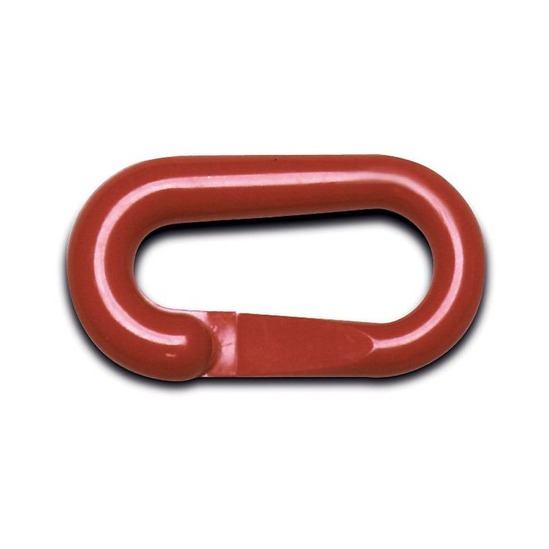 Certeo - Maillons de raccord - pour chaîne à maillons en PE, lot de 10 - rouge - Coloris: Rouge