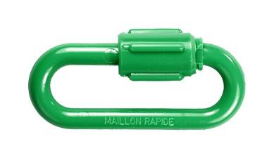 Maillon rapide PA Ø 6mm Vert - 1762411 - NOVAP