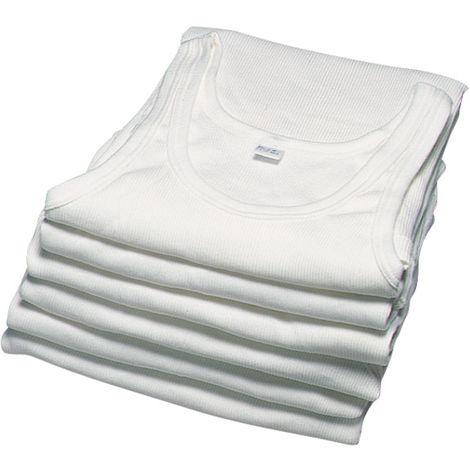 Maillot de corps débardeur en coton blanc - taille 5 - lot de 5 unités