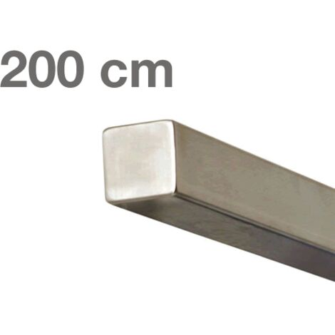 "main image of ""Main courante carrée en acier inoxydable 200 cm"""
