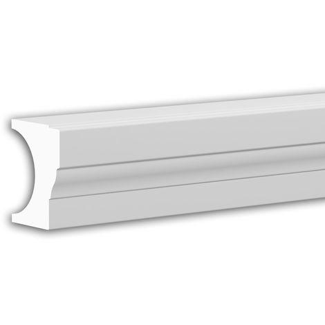 Main courante de demi-balustrade Profhome 472111 Moulure exterieure Balustrade Élément de façade style Néo-Classicisme blanc 3 m