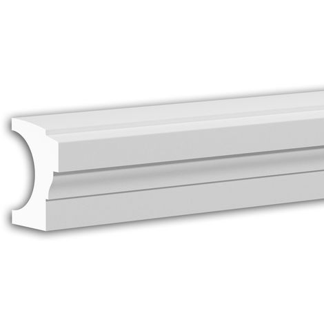 Main courante de demi-balustrade Profhome 472211 Moulure exterieure Balustrade Élément de façade style Néo-Classicisme blanc 3 m