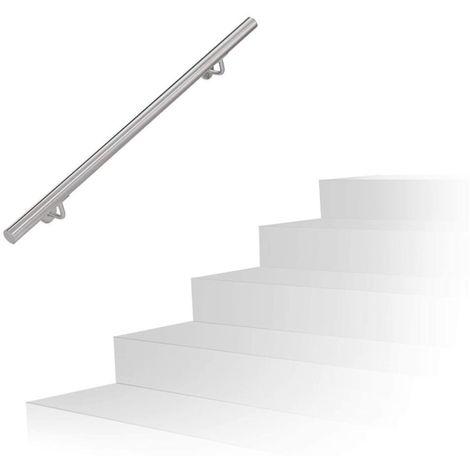 Main courante en acier inoxydable V2A rampe d'escalier support mural 150cm
