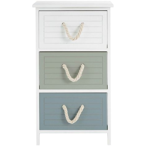 Maine drawer chest, paulownia wood frame, cotton rope handles