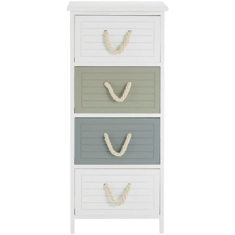 Maine drawer chest, paulownia wood frame / medium-density fibreboard