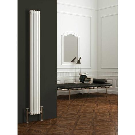 Maine White 1800x198 Vertical Triple Column Designer Radiator Central Heating