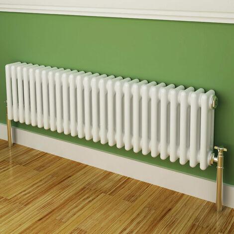 Maine White 300 x 1177 Horizontal Triple Column Designer Radiator Central Heating
