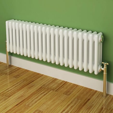 Maine White 300 x 999 Horizontal Triple Column Designer Radiator Central Heating