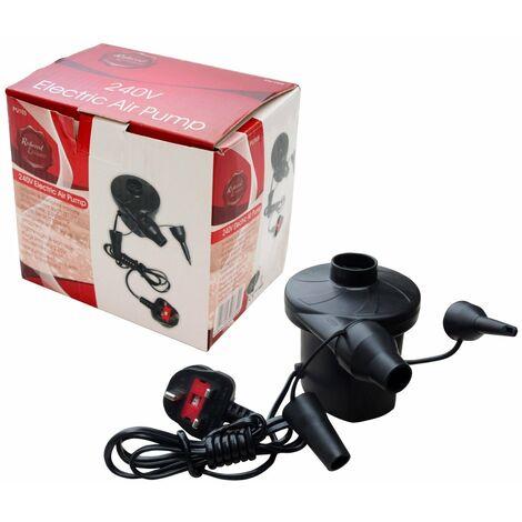 Mains Electric Air Pump Camping Pump Inflator 240V 3 Pin UK Plug
