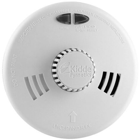 Mains Powered Heat Alarm with Alkaline Back-up Battery - Kidde Slick 3SFW