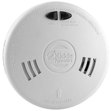 Mains Powered Optical Smoke Alarm with Alkaline Back-up Battery - Kidde Slick 2SFW