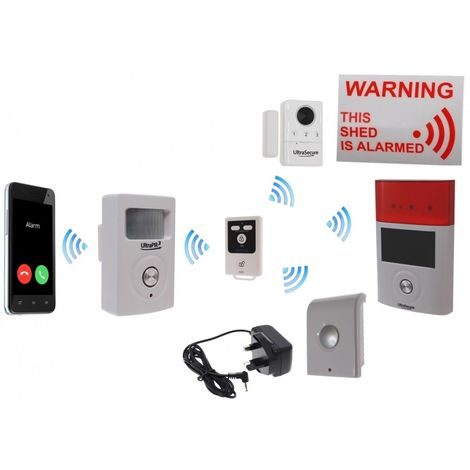 Mains Powered UltraPIR 3G GSM Shed Alarm Kit