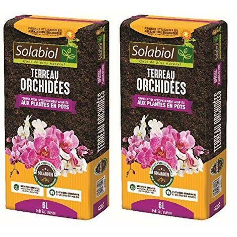 Maisange SOLABIOL - TERREAU ORCHIDEES - 12L Pret A l'emploi JUSQU'A 5 Mois DE Nutrition