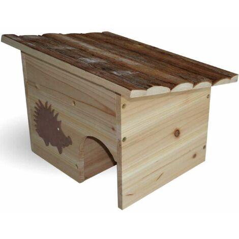 Maison à hérisson en bois de sapin