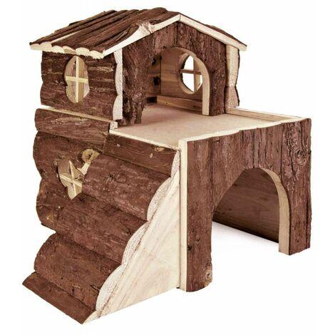 Maison bjork, cochon d'inde, en bois d'écorce - 31 × 28 × 29 cm