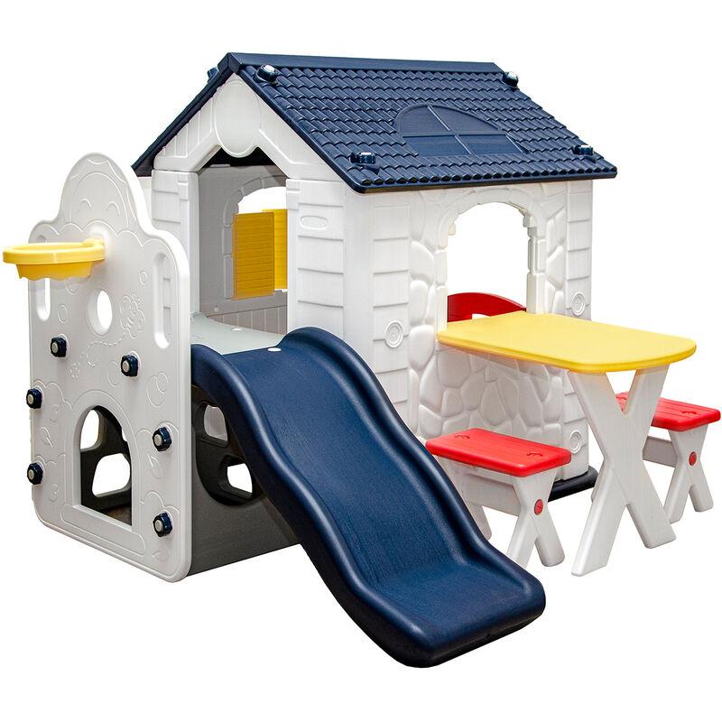 Maison de Jeux avec Toboggan pour Enfants 1 An Cabane Extérieur Intérieur - LITTLETOM