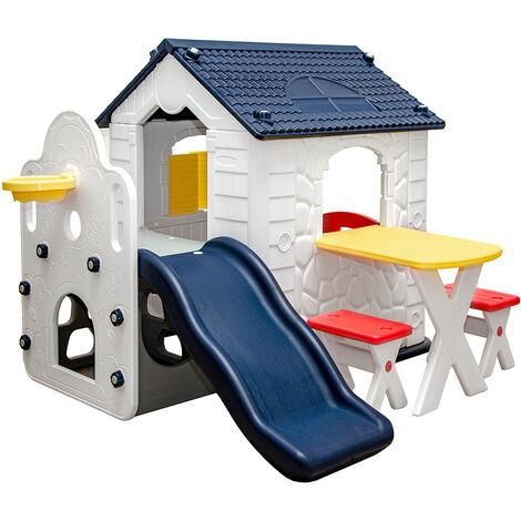 """main image of """"Maison de Jeux avec Toboggan pour Enfants 1 An Cabane Extérieur Intérieur"""""""
