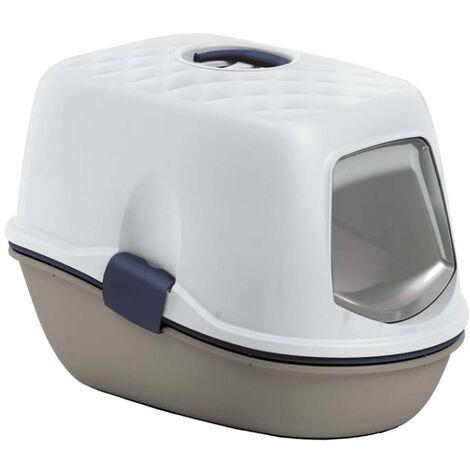 Maison de toilette 2 bacs avec tamis Furba Taupe - Taupe