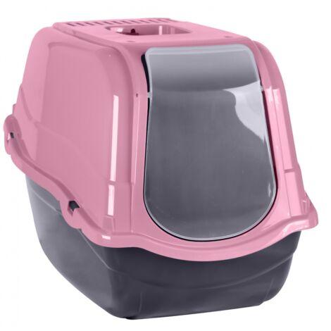 Maison de toilette pour chat - L 55 x l 40 x H 40 cm - Rose