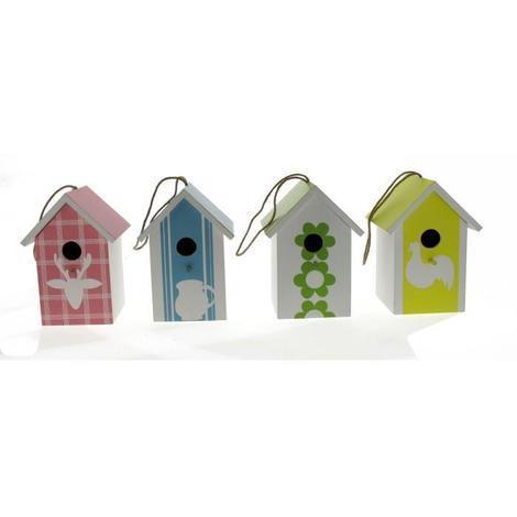 Maison En Bois 4 Modeles Assortis 20 Cm Pour Oiseaux Du Ciel