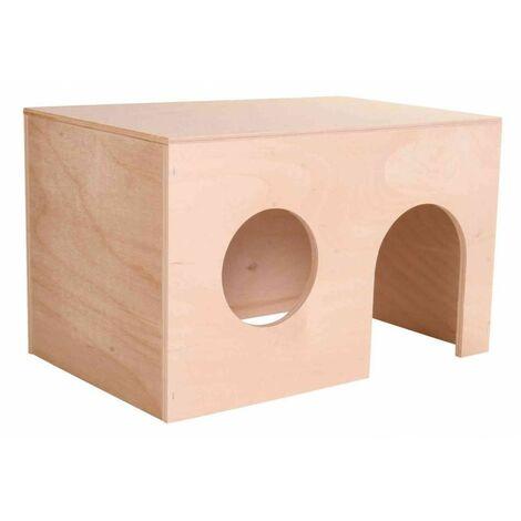 Maison en bois pour cochons d'Inde, 27 × 17 × 19 cm - 60862
