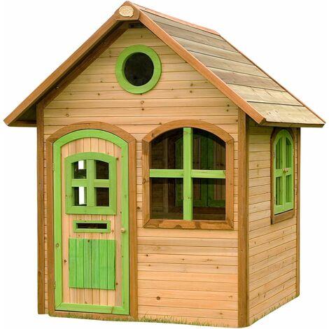 Maison extérieure enfant en bois Julia - Naturel