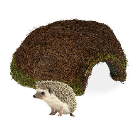 Maison hérisson, Iglu, quartier d'hiver jardin, Abri résistant aux intempéries en rotin HxlxP 20x52x45cm