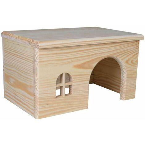 Maison, sans clou, cochon d'inde, en bois - 28 × 16 × 18 cm