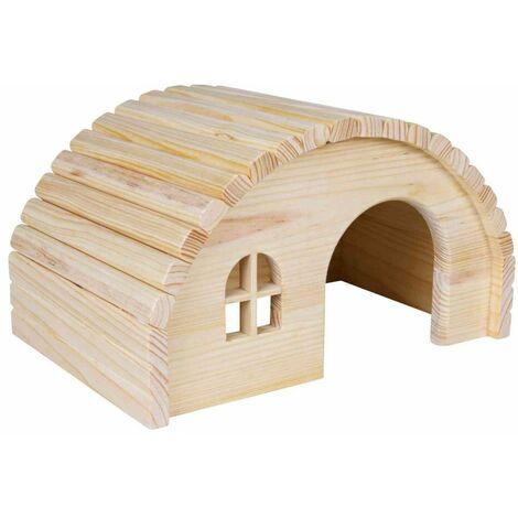 Maison, sans clou, cochon d'inde, en bois - 29 × 17 × 20 cm