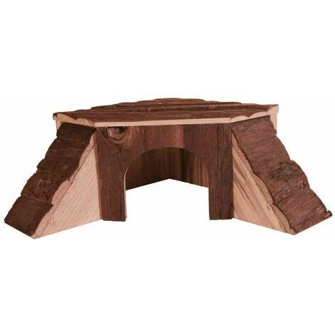 Maison thordis, cochon d'inde, en bois d'écorce - 35 × 15 × 37/37 cm