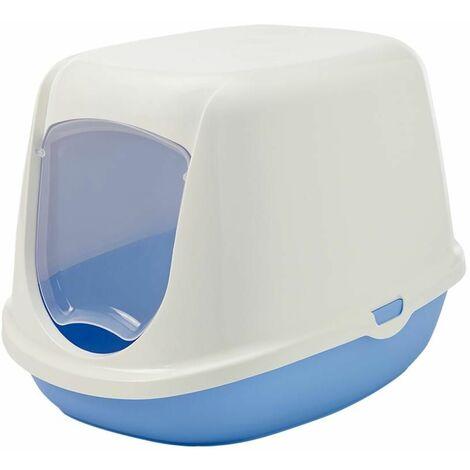 Maison toilette duchesse blanc/bleu 44,5x35,5x32cm