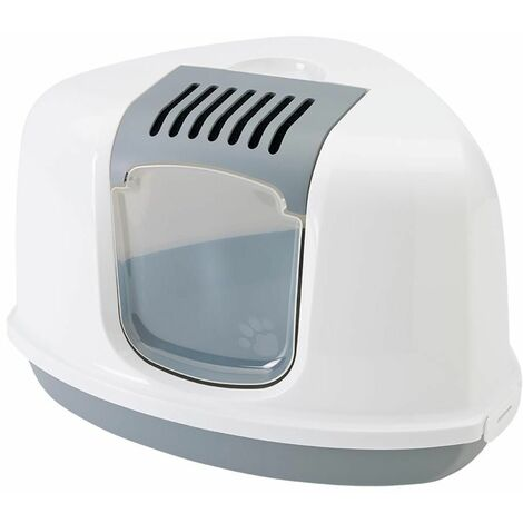 Maison toilette nestor corner blanc/gris 58x45x40c