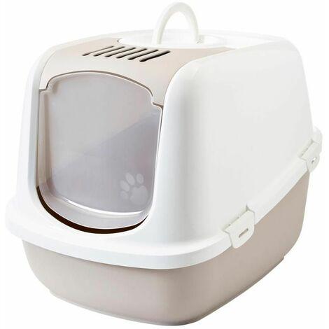 Maison toilette nestor jumbo blanc&moka 66x48x46cm