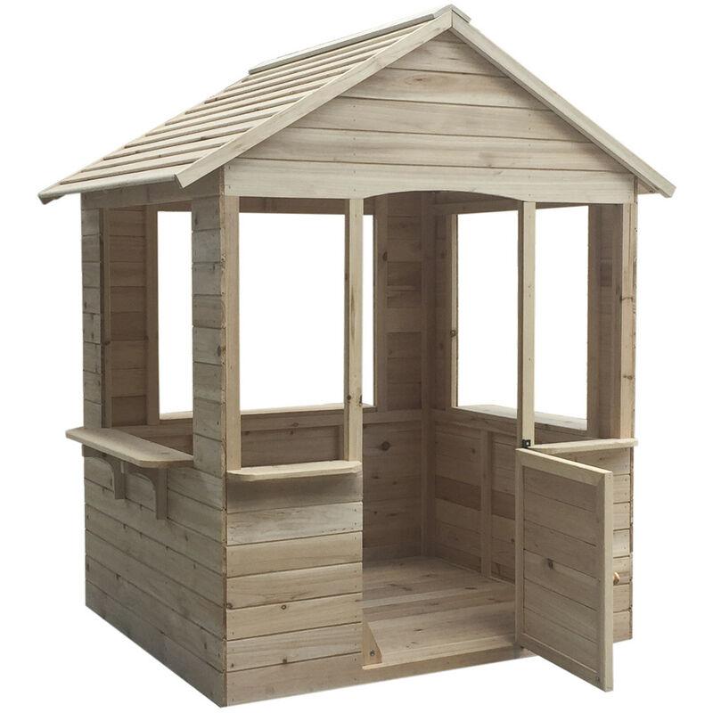 Maisonnette En Bois Adele - 120 cm x 108 cm x 138 cm - 1,2 M² Pour Enfants - Outdoor Toys