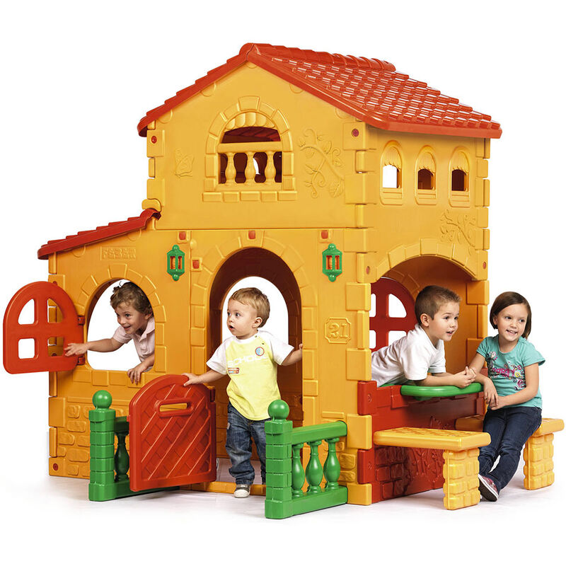 Maisonnette de jeu en plastique pour enfants Grande Villa de Feber