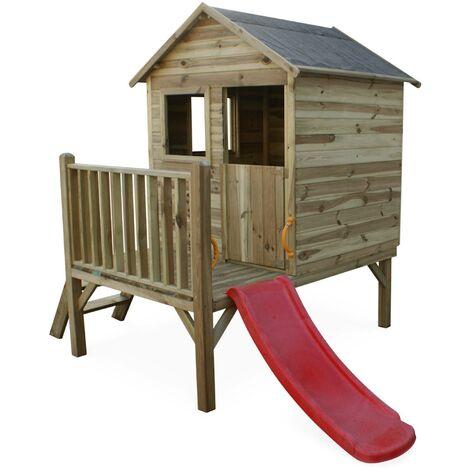 Maisonnette en bois 2m² - Magnolia - cabane pour enfant en pin autoclave