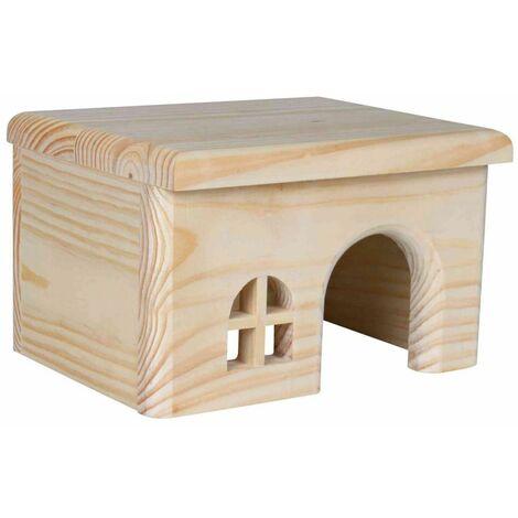 Maisonnette en bois pour hamsters - 15 × 12 × 15 cm