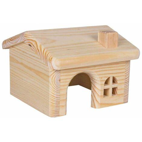 Maisonnette en bois pour hamsters/souris - 15 × 11 × 15 cm