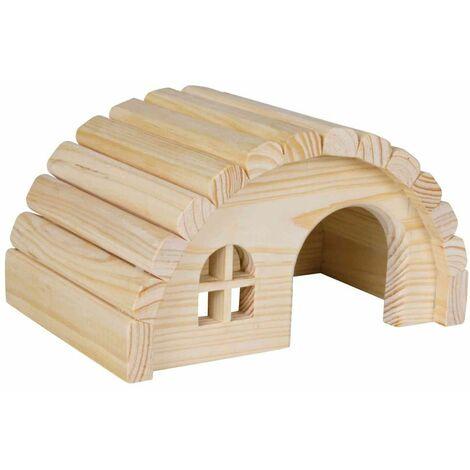 Maisonnette en bois pour hamsters/souris - 19 × 11 × 13 cm